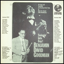 benny goodman Swingin' Into Bop!